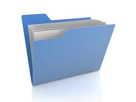 Folder icon with files