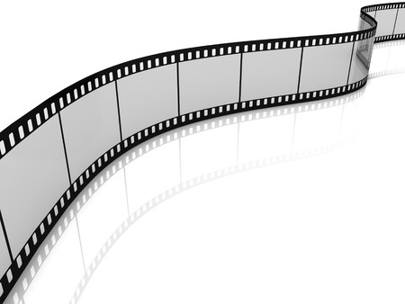 Blank film strip isolated on white background photo