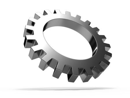 Gear wheel isolated on white background Stock Photo - 8000574