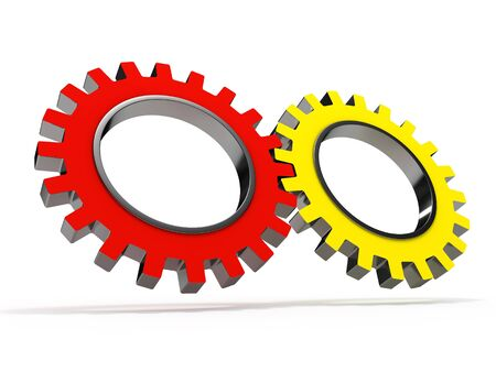 Gear wheels isolated on white background Stock Photo - 8000615