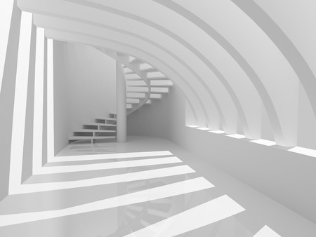Modern hall with stairs photo
