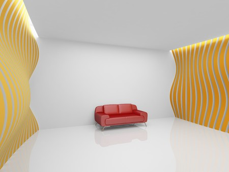Empty relaxation room in minimalist style Stock Photo - 8000666