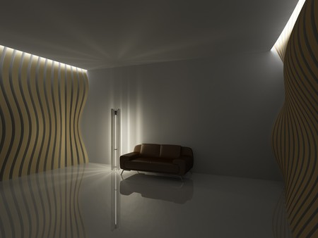 Empty relaxation room in minimalist style photo