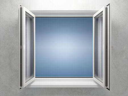 apriva: Finestra aperta di plastica nella nuova sala