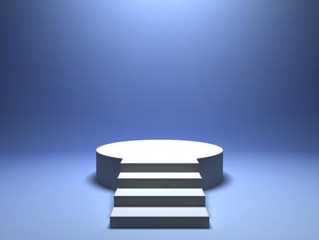 comp�titivit�: Podium pour gagnant sur fond bleu