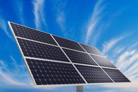 A photovoltaic panel. Solar power plant. photo
