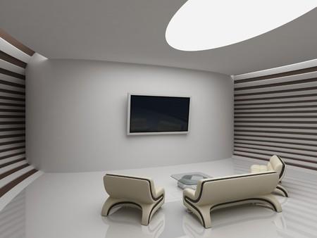 Modern interior in yacht style photo