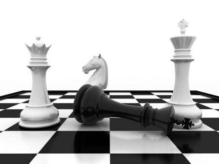 Schachmatt: Chess king Schachmatt - game over Lizenzfreie Bilder