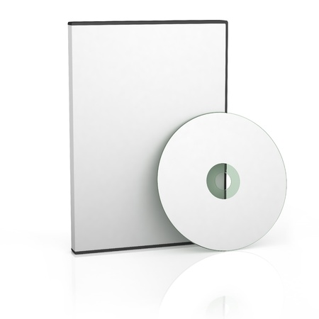 空白の DVD ケースやディスク