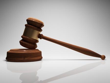 arbitrar: Martillo de juez en foco