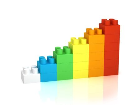 expressing: Achievement chart from building blocks