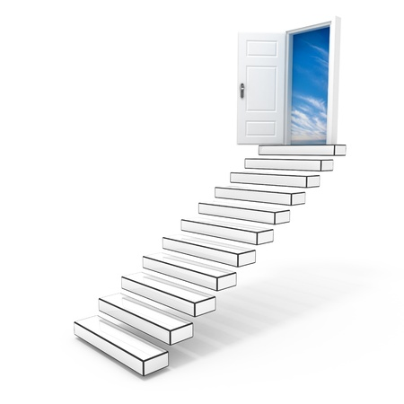 Stairway to the sky.  An open door to the freedom. photo