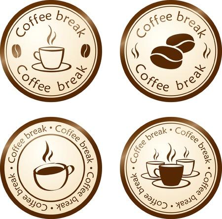 coffee break stamp Stock Vector - 8394206