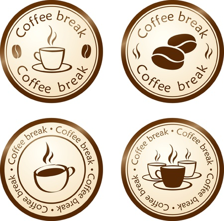 office break: coffee break stamp