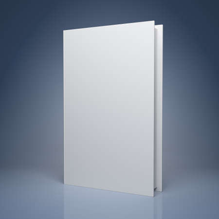 Blank book on blue background Stock Photo