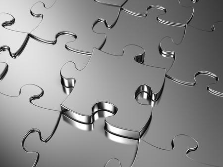 cromo: Metal blanco rompecabezas