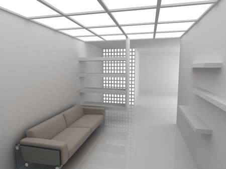 Sofa in modern rest room photo