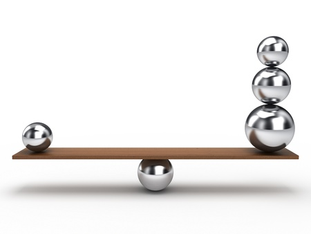 balance ball: Balancing balls on wooden board