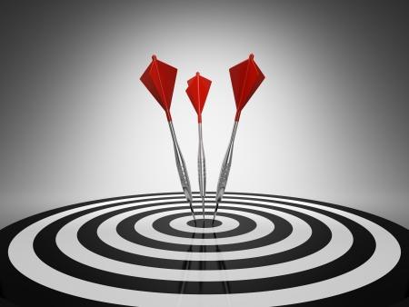 business rival: Golpear un blanco sobre fondo negro de DART