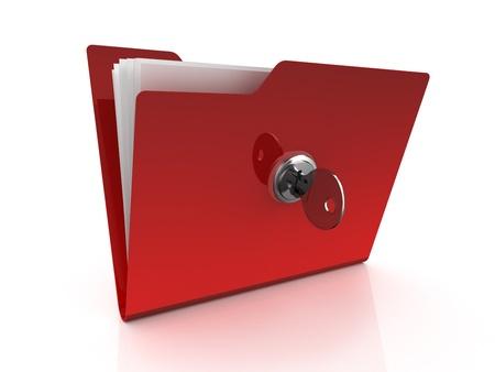 Folder icon with key photo
