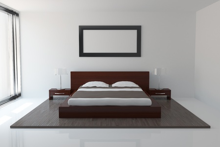 Interior of modern bedroom photo