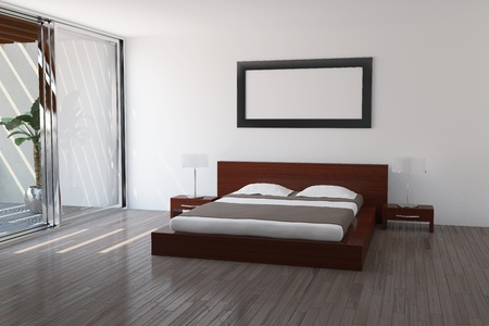 Interior of modern bedroom Stock Photo - 9325404