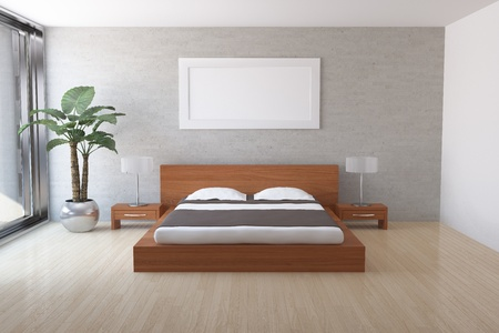 bedroom: Interior of modern bedroom