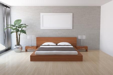 Interior of modern bedroom Stock Photo - 9325407
