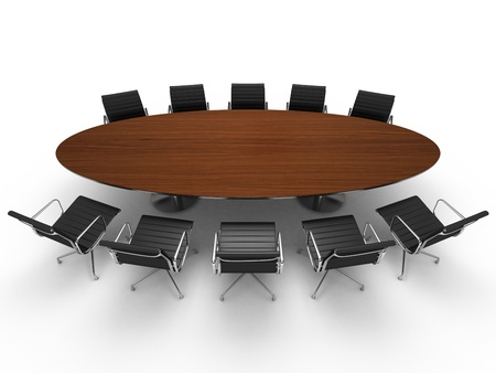 Conference table and chairs photo