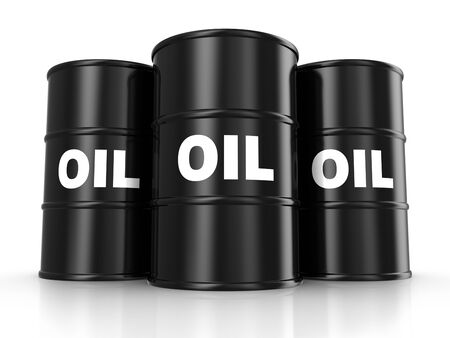 Oil barrels and drum containers photo