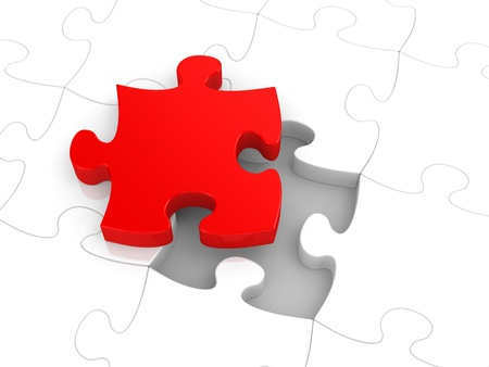 integrate: Jigsaw puzzle concept