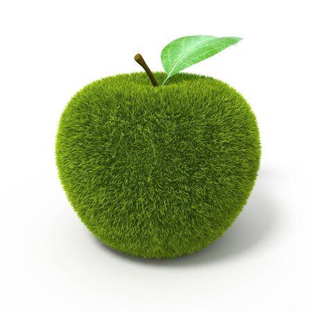 Grass green apple photo