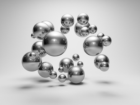 Abstract geometric shapes from spheres photo
