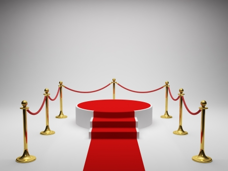 carpet: Podium for winner with red carpet