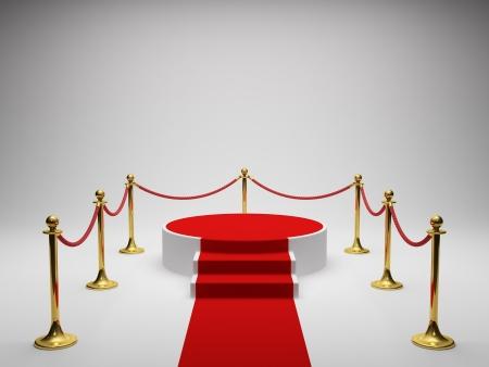 comp�titivit�: Podium pour gagnant avec tapis rouge Banque d'images