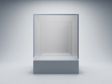Empty glass showcase for exhibit Stock Photo - 9807977