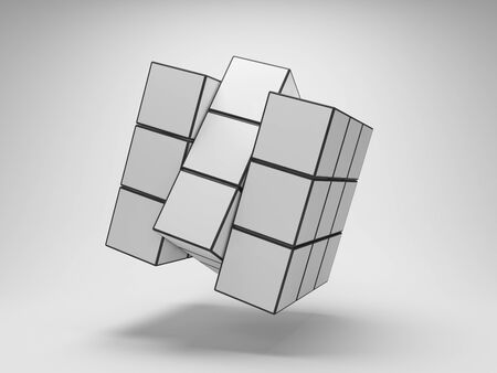 Array puzzle from cubes photo