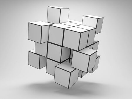 Design of abstract cubes photo