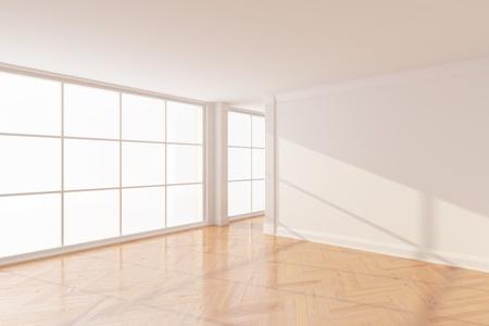 Lege nieuwe kamer met groot raam