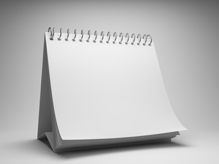 months of the year: Blank desktop calendar Stock Photo