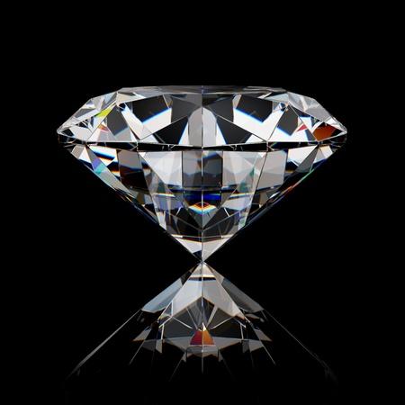 Diamond jewel on black surface