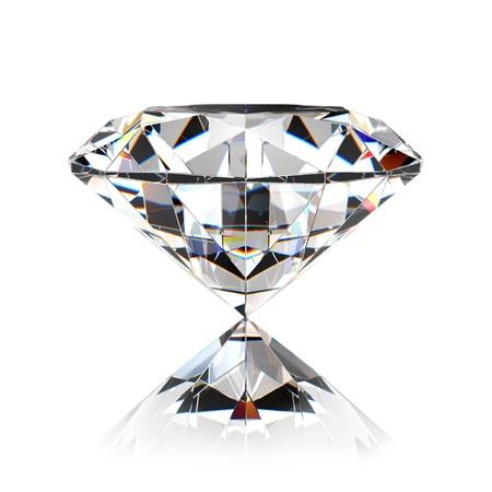 diamonds isolated: Diamond jewel isolated on white background