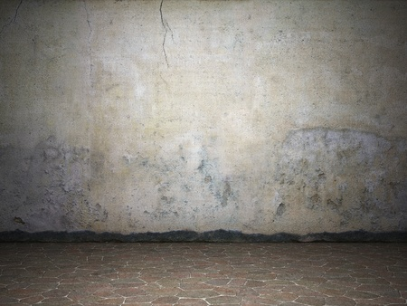 Illuminated dirty grunge wall Stock Photo - 10148482