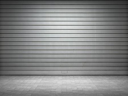 pared iluminada: Rodillos met�licos iluminados grunge