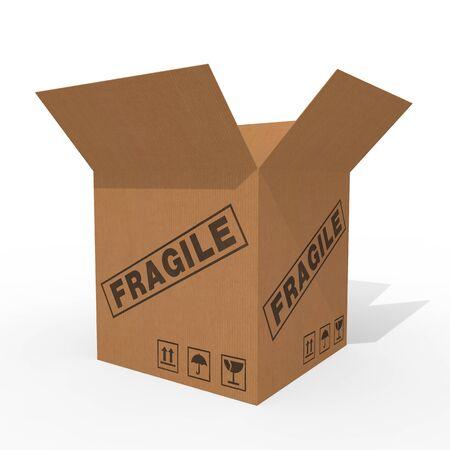 Open cardboard box isolated on white background Stock Photo - 10854308