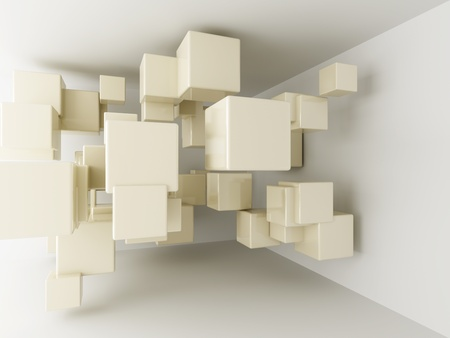 Abstract geometric shapes from cubes photo