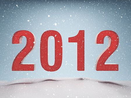 Happy New Year 2012 greeting card photo
