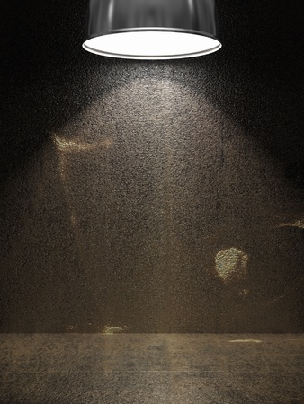 Old rusty metal plate illuminated by lamp Stock Photo - 10854313