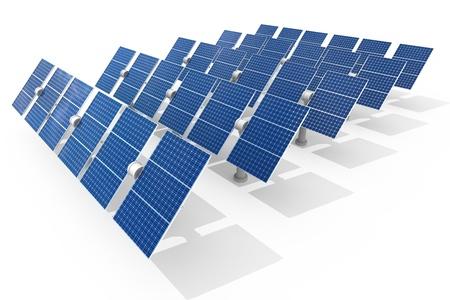 solar power plant: Solar power plant isolated on white background