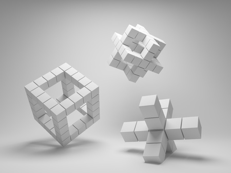 Design abstract geometric shapes of the cubes Stock Photo